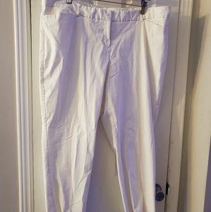 20w Worthington white pants